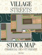 Village Streets Stock Commercial Use Map