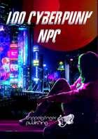 100 Cyberpunk NPC