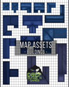 Blue Building Map Assets