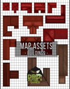 Red Building Map Assets