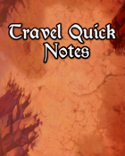 Travelers Quick Notes