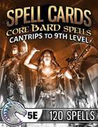 Spell Cards (5E) - Core Bard Set