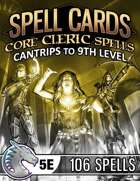 Spell Cards (5E) - Core Cleric Set