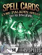 Spell Cards (5E) - Core Paladin Set