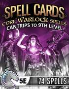Spell Cards (5E) - Core Warlock Set