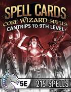 Spell Cards (5E) - Core Wizard Set