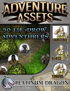 Adventure Assets - 50 Elf and Drow Adventurers