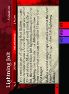 Lightning Jolt - Custom Card
