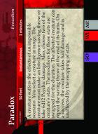 Paradox - Custom Card