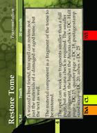 Restore Tome - Custom Card