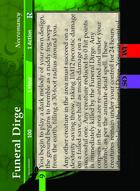 Funeral Dirge - Custom Card