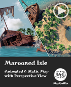 Marooned Isle - Animated & Static Map with Perspective Views