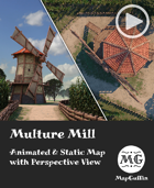 Multure Mill - Animated & Static Map with Perspective Views