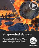 Suspended Sarsen - Lava - Animated & Static Map with Perspective Views