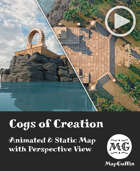 Cogs of Creation - Animated & Static Map with Perspective Views