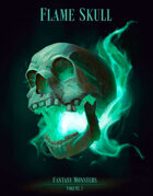 Fantasy Monsters Volume 1 - Flame Skull