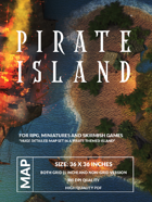 Pirate Island - 36 x 36 inch BattleMap