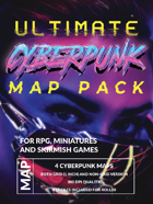 Ultimate Cyberpunk Map Pack Volume 1 - Augmentation Clinic, Office, Rooftops and Street[BUNDLE]
