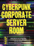 Cyberpunk Corporate Server Room - 2 Variations