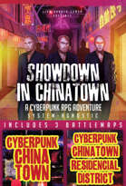 Showdown in Chinatown Cyberpunk Adventure + Battlemaps [BUNDLE]