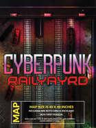 Cyberpunk Railyard Battlemap 40 x 40
