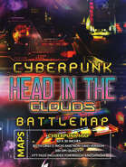 Cyberpunk Head in the Clouds Battlemap