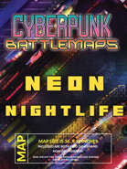 Cyberpunk Neon Nightlife - Battlemap