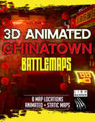 Cyberpunk Chinatown 3D Animated Battlemaps