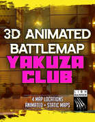 3D Animated Map - Cyberpunk Yakuza Club & Street