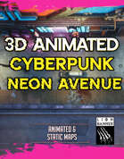 Animated Cyberpunk Neon Avenue Battlemap