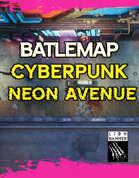 Cyberpunk Neon Avenue Battlemap