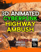 Animated Cyberpunk Highway Ambush Battlemap