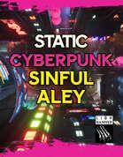 Cyberpunk Sinful Alley Static Battlemap