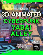 Animated Cyberpunk Yabai Alley Battlemap