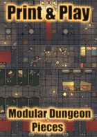Modular Dungeon Rooms | Print, Cut, Play!