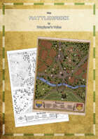 High quality and hand-drawn Map: Rattlecreek