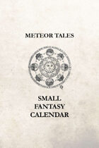 Small Fantasy Calendar