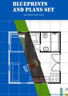 Blueprint and plan asset pack