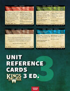 Kings of War 3E unit aid cards