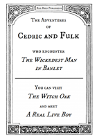The Adventures of Cedric and Fulk #1 'The Wickedest Man in Banlet' – a Dragon Warriors RPG chapbook
