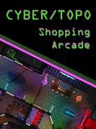 Cyberpunk Shopping Arcade