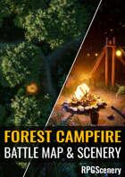 Forest Campfire Battlemaps & Scenery