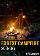 Forest Campfire Scenery