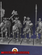 Skeleton Horsemen Set 1 (STL)