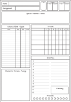 Troika! Form-Fillable Character Sheet