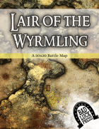 Lair of the Wyrmling - 30x20 Battlemap
