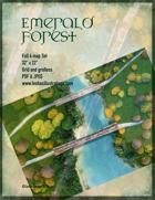 Emerald Forest Four Battle Map Four map set