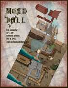 Mead Hall Battle Map Full Four-Map Set with Roof Maps