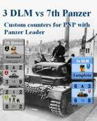 Custom Panzer Leader counters for 7th Panzer & 3 DLM