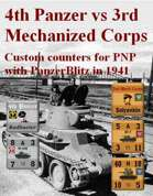 Custom PanzerBlitz counters for 4th Panzer & 3 Mech Corps